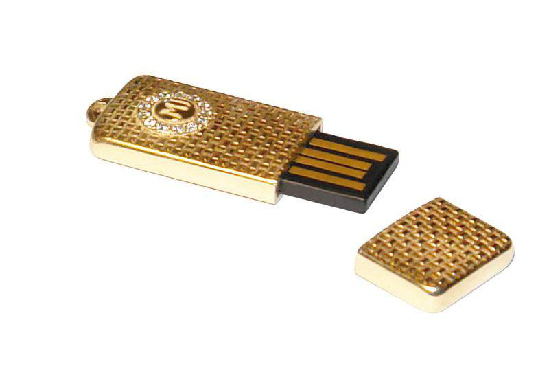 MJ - USB Flash Drive - First Sample Pure Gold & Diamonds
