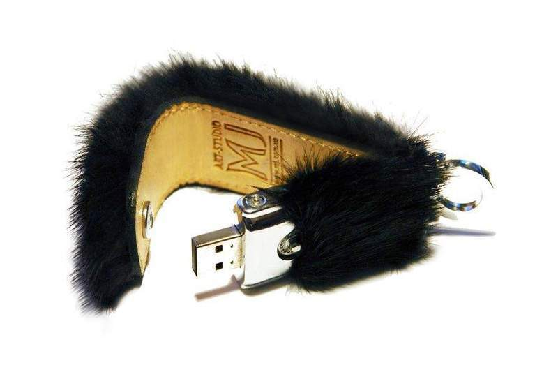 MJ - USB Flash Drive Fur Limited Edition - Black Mink