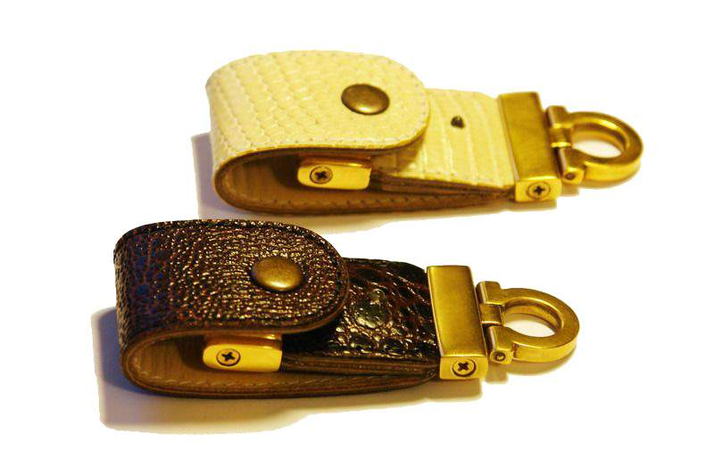 MJ - USB Flash Drive Gold Leather Edition - Case from Gold & Natural Skin: Lizard, Varan, Iguana, Frog, Shark, Ostrich, Crocodile, Alligator, Cayman, Eel, Stingray, Turtle, Elephant, Hippopotamus, Sea Snake, Python, Cobra, Boa, Anaconda...