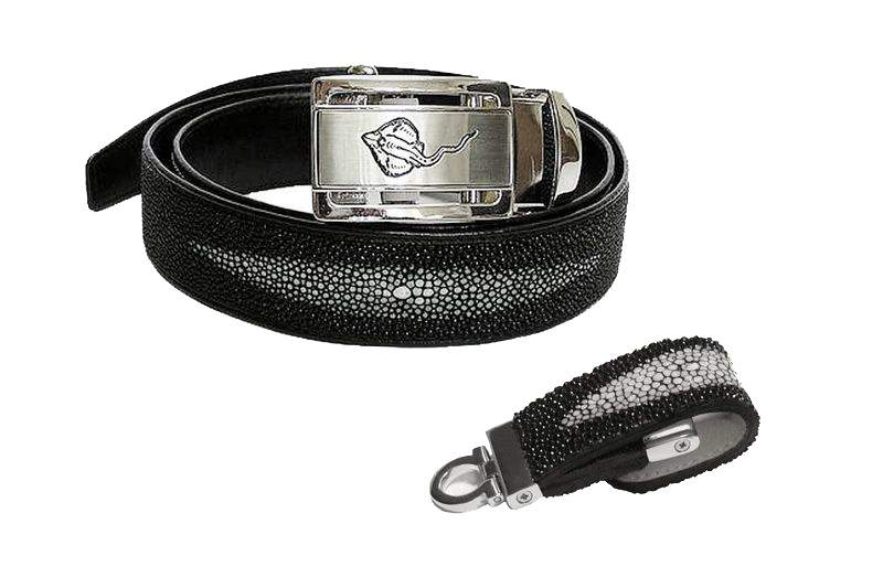 MJ - Leather USB Flash Drive 128gb & VIP Belt from Stingray Skin
