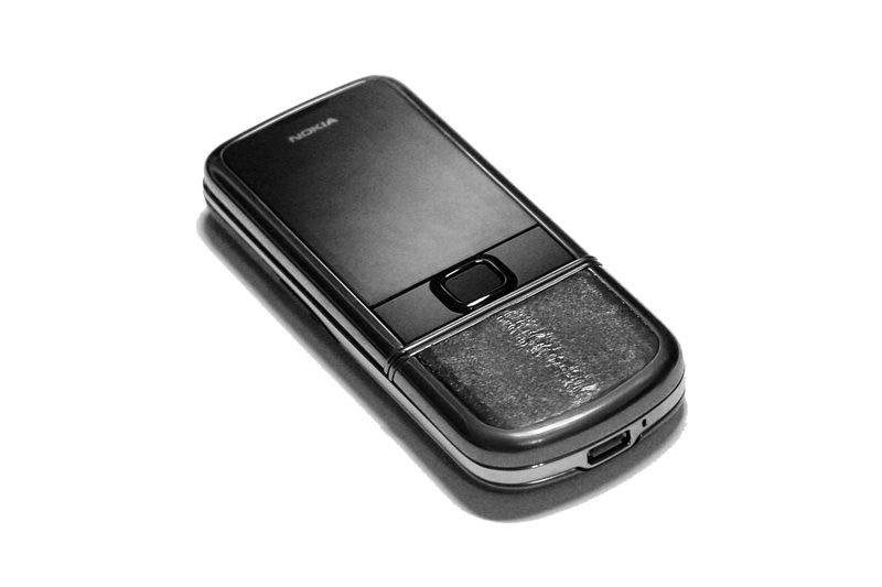 MJ - Nokia 8800 Arte Black Leather Edition - Black Asian Sea Eel with Black Sapphire. Palladium Buttons.