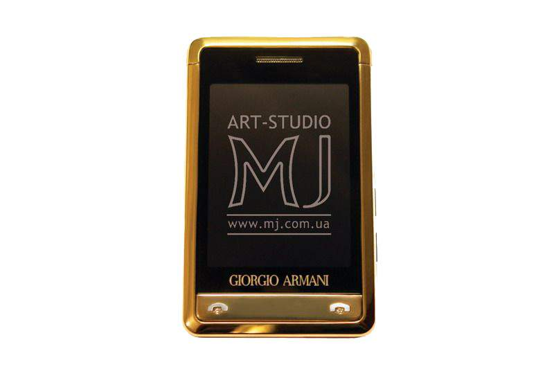 MJ - Mobile Phone Giorgio Armani Gold Platinum Diamond.