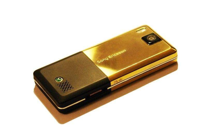 MJ - Sony Ericsson t650 Great Edition - Special Order for Arab Sheiks. Gold Phone.