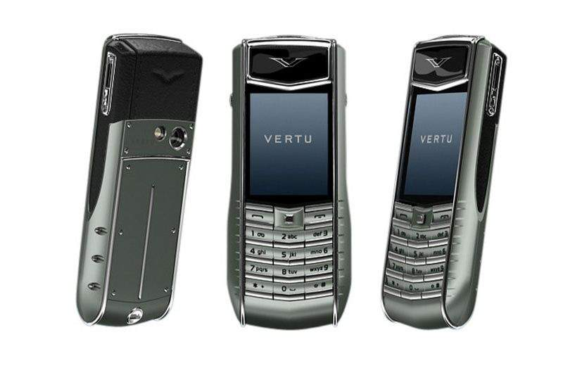 MJ - Vertu Ascent Ti Gold SingleCopy - White Gold, Platinum Buttons, Diamond Camera... VIP Box from Fur Mink