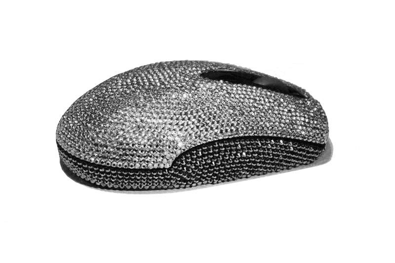 MJ - Luxury Mouse Incrusted White & Black Diamonds.