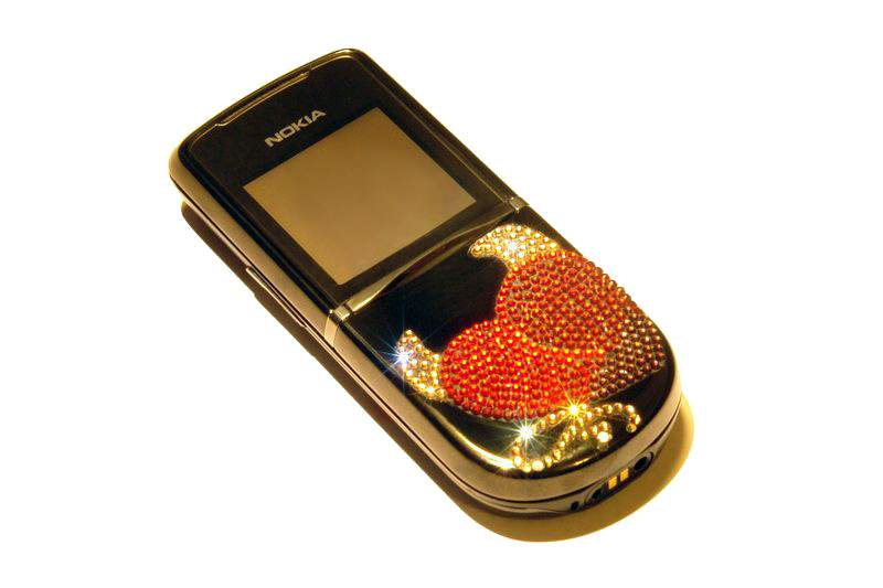 MJ - Nokia 8800 Diamond Sirocco Limited Edition - White, Yellow, Brown & Red Brilliants
