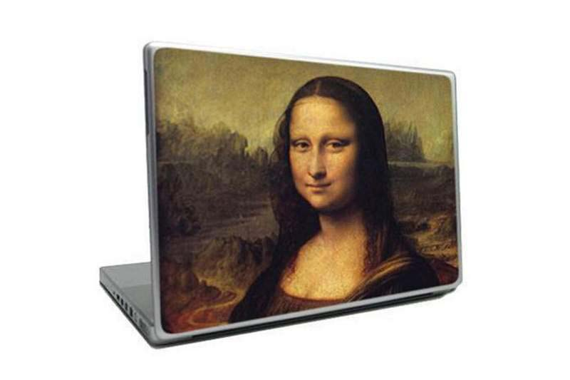 MJ - Laptop Art Paint - Madonna Reproduction, Silver Case, White Gold Gilding AMG, Hot Enamel