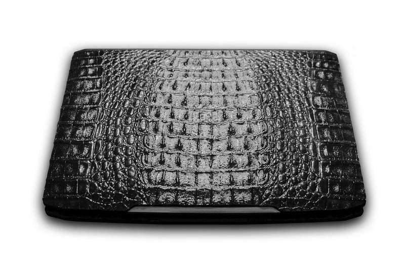 MJ - Unique Luxury Laptop Coco Super Design - Case from Genuine Leather (River Alligator).